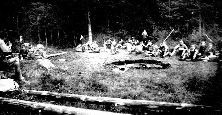 Boy Scouts camping 1946